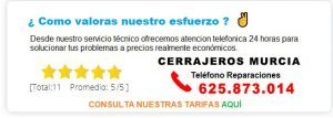 cerrajeros Murcia precio